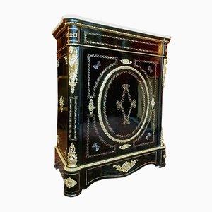 Antikes Napoleon III geschwärztes Poirier Intarsie Buffet