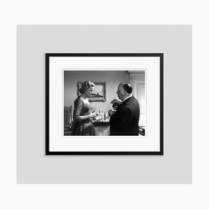 Grace Kelly & Alfred Hitchcock Archival Pigment Print Framed in Black by Everett Collection