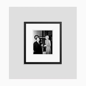 Hitchcock & Grace Kelly on Set Archival Pigment Print Framed in Black by Everett Collection