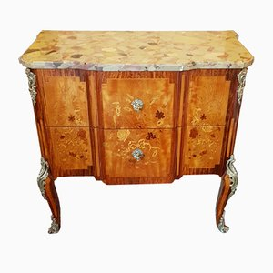 19th Century Louis XV and Louis XVI Lemon and Sycamore Dresser