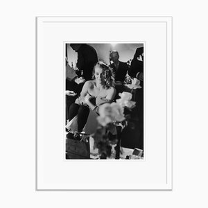 Ekberg Smiles Silver Gelatin Resin Print Framed in Black by John Chillingworth