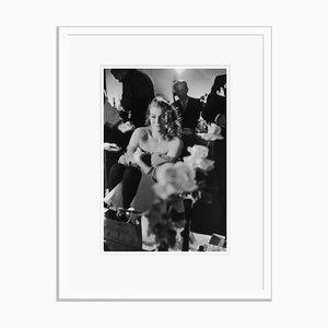 Ekberg Smiles Silver Gelatin Resin Print Framed in Black by John Chillingworth