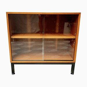 Small Vintage Teak and Glass Bookshelf