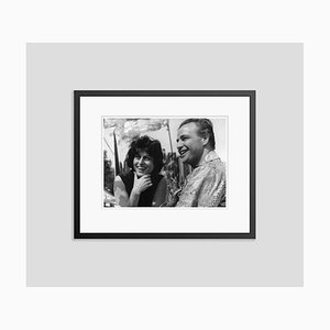 Magnani & Marlon on Set Archival Pigment Print Framed in Black by Everett Collection