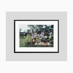 Polo Party Oversize C Print Framed in Black by Slim Aarons