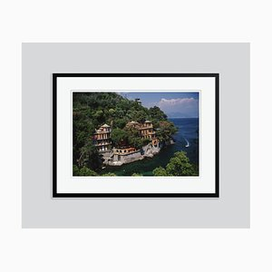 Portofino Oversize C Print Framed in Black by Slim Aarons