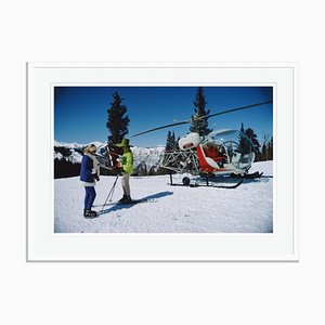 Snowmass Village Oversize C Print Framed in White by Slim Aarons