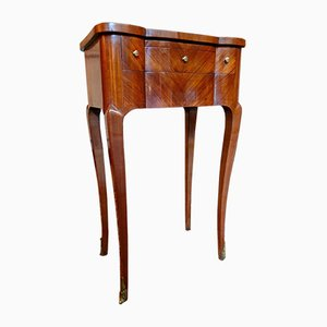 19th Century Louis XV and Louis XVI Rosewood Marquetry Side Table
