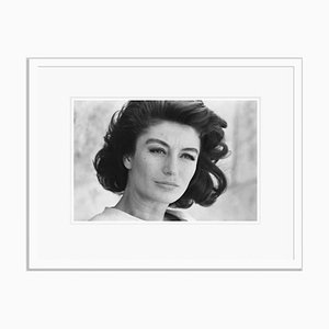 Anouk Aimee Archival Pigment Print Framed in White by Giancarlo Botti