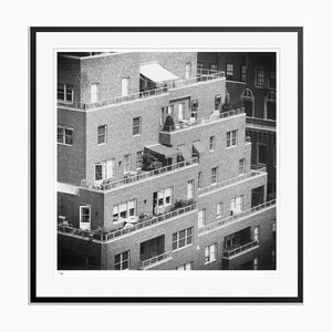 NY Apartments Silver Fibre Gelatin Print Framed in Black by Slim Aarons