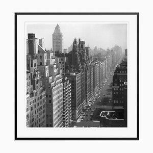 Park Avenue Fibre Gelatin Print Framed in Black by Slim Aarons