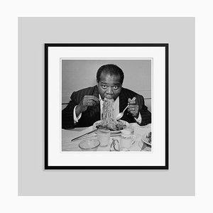 Dinner Jazz Silver Fibre Gelatin Print Framed in Black by Slim Aarons