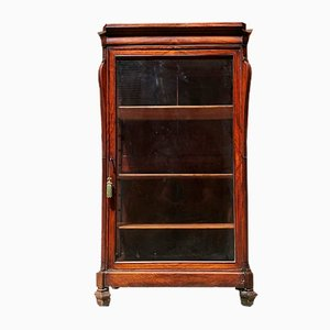 Antique English Mahogany Display Cabinet, 1800s