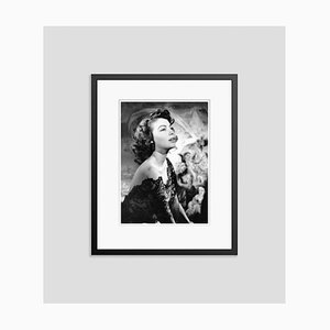 Ava Gardner Silver Gelatin Resin Print Framed in Black by Baron