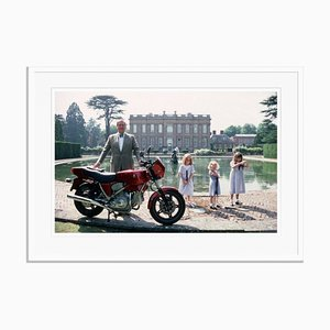 Motorcycling Lord Oversize C Print Framed in White by Slim Aarons