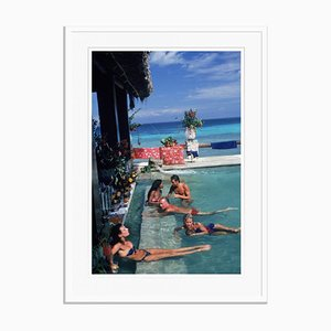 Plantation Cocoyer Oversize C Print Framed in White by Slim Aarons
