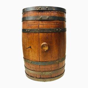 Mobile da vino o da liquore antico in quercia e ottone
