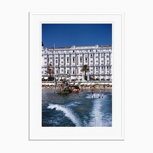 Hotel Sports Oversize C Print Framed in White by Slim Aarons