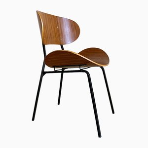 Bent Plywood Dining Chairs, 1950s, Set of 2