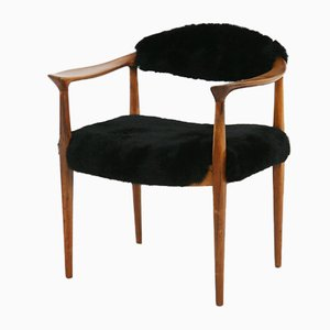 Mid-Century Black Teak Model JH-501 Armchairs by Hans J. Wegner, 1950s, Set of 2