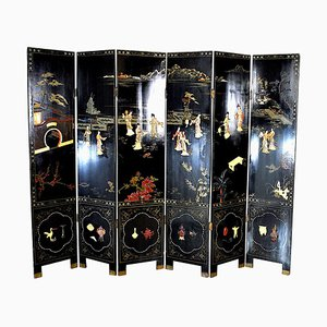 19th Century Chinese 6-Panel Room Divider