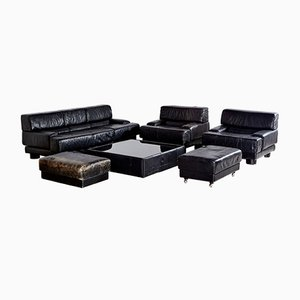 Vintage Leather Living Room Set by Percival Lafer, 1960s