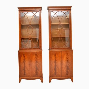 Antique Mahogany Bookcases from Waring & Gillows, 1950s, Set of 2