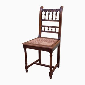 19th Century Walnut Dining Chairs, Set of 6