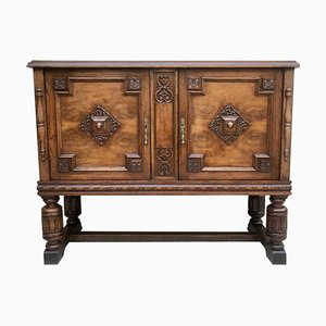 19th Century Catalan Spanish Buffet with Mirror Crest