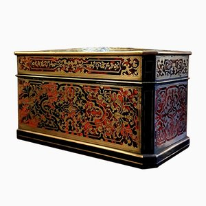 19th Century Boulle Marquetry Jewelry Box from Alphonse Giroux