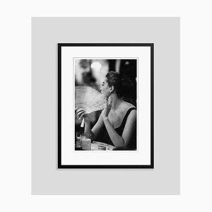 Capucine Silver Fibre Gelatin Print Framed in Black by Slim Aarons