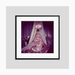 Satin Seduction Oversize C Print Framed in Black by Slim Aarons