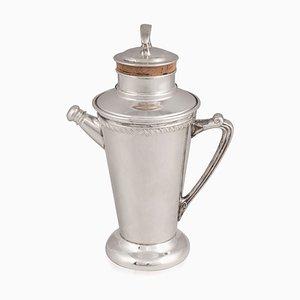 Amerikanischer Versilberter Cocktail Shaker, 1930er