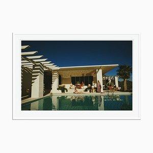 Poolside in Arizona Oversize C Print Framed in White by Slim Aarons