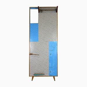 Grafische Garderobe in Blau & Grau von Drevokov Blatna, 1960er