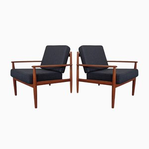 Danish Teak Lounge Chair by Grete Jalk for France & Søn / France & Daverkosen, 1960s