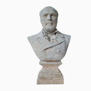 Vintage Cast Iron Bust from Louis Gasne