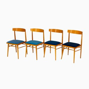 Ash Dining Chairs from TON, 1960s, Set of 4