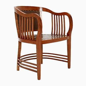 Antique Secessionist Walnut Armchair by Josef Maria Olbrich for Michael Niedermoser, 1890s