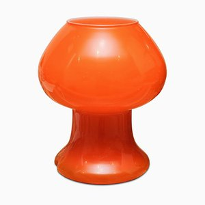 Italian Orange Glass Table Lamp from Prova, 1970s