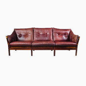 Leather Ilona Sofa by Arne Norell for Aneby Møbler, 1960s