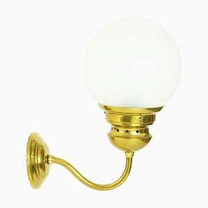 Mid-Century Modell LP1 Wandlampen aus Messing & Milchglas von Luigi Caccia Dominioni für Azucena, 1950er, 4er Set