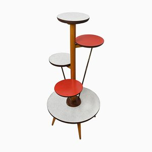 Mid-Century Model 6704 Kidney Floral Bench Side Table from Ilse Möbel, 1950s