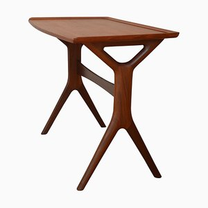 Mid-Century Danish Organic Teak Nesting Tables by Johannes Andersen for CFC, 1960s