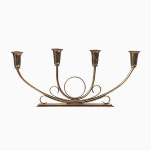 Art Deco Bronze Candleholder from Ildfast, 1930s