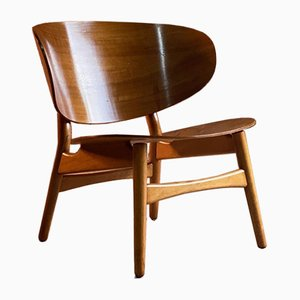 Mid-Century Danish Model FH 1936 Shell Chair by Hans J. Wegner for Fritz Hansen, 1950s