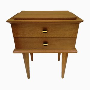 French Nightstand with 2 Drawers, 1950s