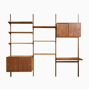 Mid-Century Danish Wall Unit in Teak from FM Møbler, 1960s