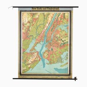 Mapa antiguo de Nueva York de Westermann, años 20