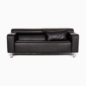 Black Leather AK 422 3-Seat Sofa from Rolf Benz